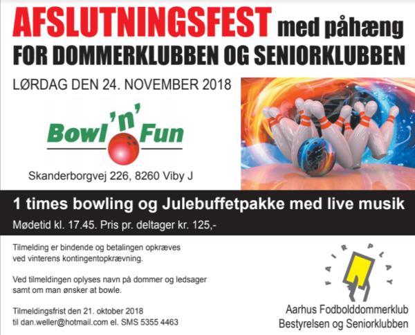 Sæsonafslutning @ Bowl´n Fun Viby | Viby | Danmark