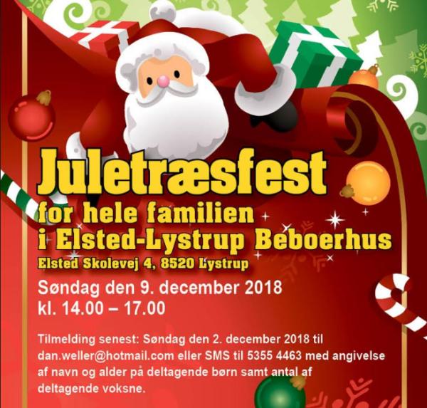Juletræsfest d. 9. december 2018 @ Elsted-Lystrup Beboerhus | Lystrup | Danmark