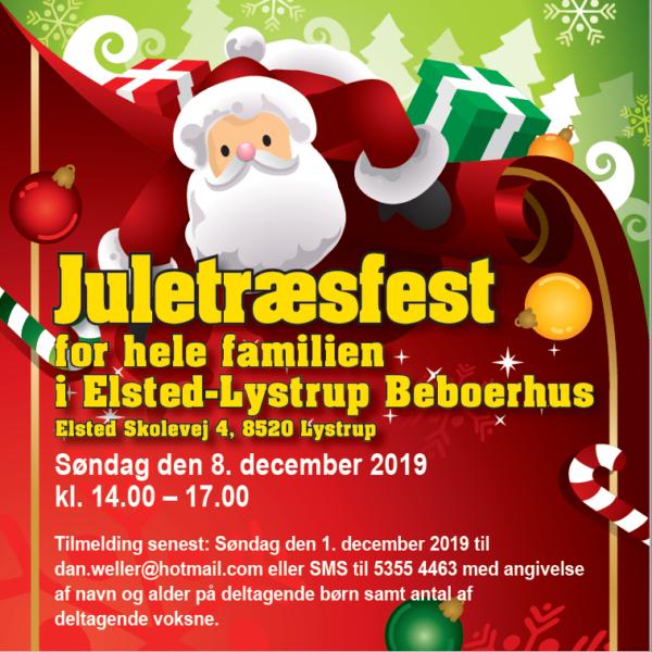 Juletræsfest for hele familien @ Elsted -Lystrup Beboerhus